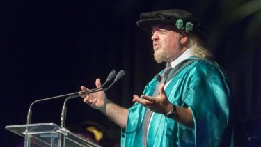 Comedian Bill Bailey talks about comedy, conservation and British naturalist Alfred Russel Wallace after accepting an honorary doctorate from the University of the Sunshine Coast.