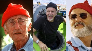 Beanies ahoy ... French sea explorer and documentary-maker Jacques Cousteau d17f429d2c8