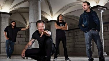Thundering down under...Heavy metal band Metallica is heading this way.