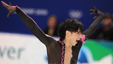 US athlete Johnny Weir competes in the men's figure skating at the Vancouver Olympics.