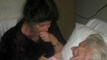 When she eventually died of pneumonia she did so peacefully, surrounded by family.