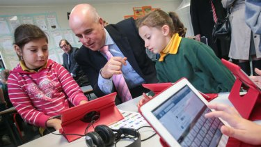 "Rejects the ""broken"" Gonski funding model: Education Minister Adrian Piccoli."
