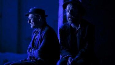 Richard Roxburgh and Hugo Weaving in <em>Waiting For Godot</em>.