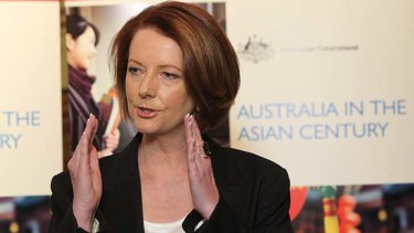 """""""For the first time in our history, Asia is not a threat to our high-skill high-wage road. It is a reason to stay on it"""" ... Prime Minister Julia Gillard."""