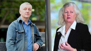 Steve Cox and Elizabeth Grierson outside court.