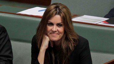 Peta Credlin ... Tony Abbott's Chief of Staff at question time on Thursday.