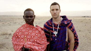 Jonathan Okwir, left, and Corrin Varady in<i>The Road To Freedom Peak</i>.