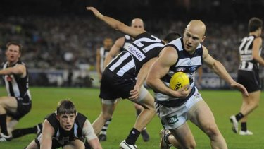 He went that-a-way. Gary Ablett leaves Collingwood in his wake, preliminary final, 2009.