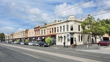 These Victorian terrace shops in South Melbourne are being sold as one title by the honorary consul for Monaco, Andrew Cannon.