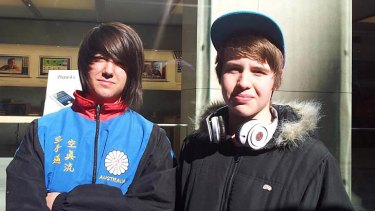 Tom Mosa and Wil Batterham, both 15.