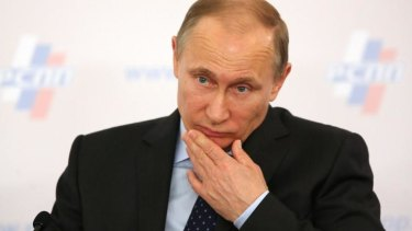Hmmm... Russian President Vladimir Putin's approval ratings are at historically high levels, now at 85 per cent.