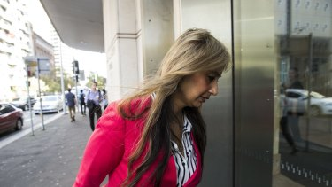 Siege survivor Selina Win Pe on her way to give evidence at the Lindt cafe sIege inquest on Wednesday.