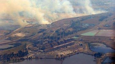 The fires near Hazelwood power station.
