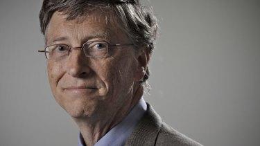 Billionaire philanthropist Bill Gates in Canberra on Tuesday.