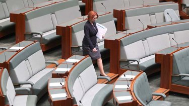 Prime Minister Julia Gillard in Parliament House on Tuesday.