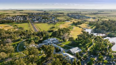 A portion of the vast Eynesbury estate near Werribee in Melbourne's west once owned by the Ballieu family has been put on the market.