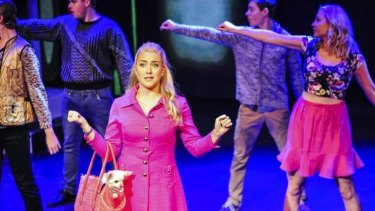 Dazzling: Legally Blonde - the Musical with Mikayla Williams (front, in pink) as Elle Wood in the lead role.