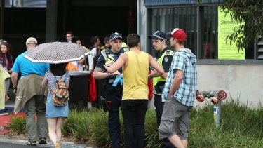 Police at Stereosonic music festival at Melbourne Showgrounds.
