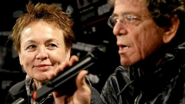 Laurie Anderson and Lou Reed on a visit to Sydney in 2010.