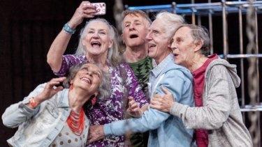 <i>Seventeen</i> starring (from left) Anna Volska, Maggie Dence, John Gaden, Peter Carroll and Barry Otto.