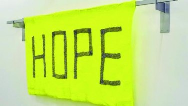 Kate Just's HOPE banner.