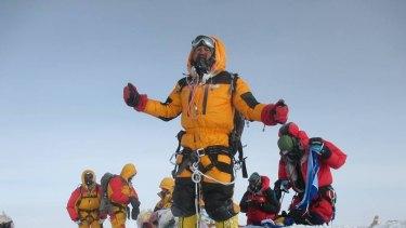 Satyarup Sidhantha's photo at the Everest summit.