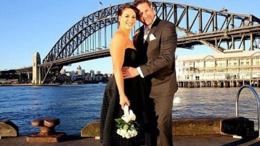 Clare and Lachlan on Married at First Sight. Clare's choice of black wedding dress sparked debate on social media.