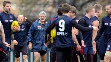 Caretaker coach Neil Craig takes Melbourne training earlier this week.