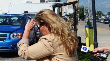 Paul Peters' ex-wife Deborah leaves the District Court in Louisville, Kentucky.