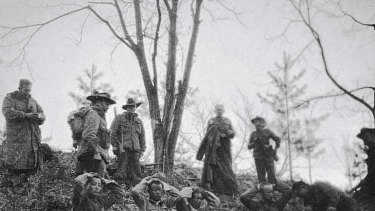 Chinese prisoners captured by 3RAR during the Battle of Kapyong in 1951.