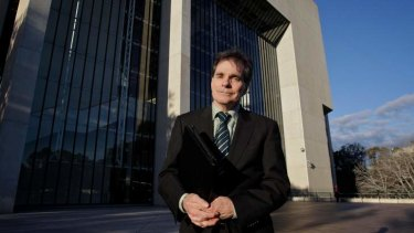 Here we go again: Ron Williams outside the High Court in Canberra in August 2011.