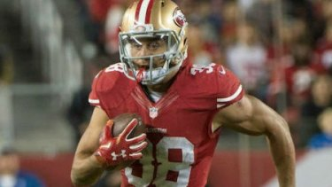 In action: Jarryd Hayne is trying to get back on the field for the 49ers.