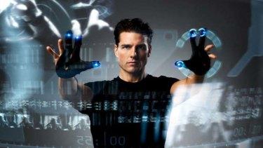 Life imitates art ... Tom Cruise in the film Minority Report.