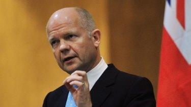 William Hague ... spoke of British ground troops.