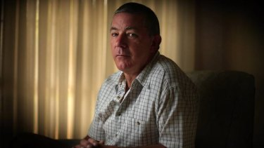 Peter Fox at his home. His links to a journalist are being examined in the Newcastle Supreme Court.