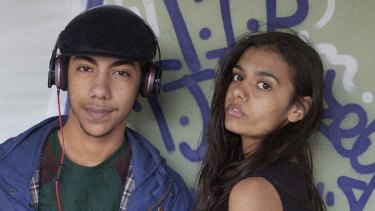 Hunter Page-Lochard and Madeleine Madden from the film Around The Block.
