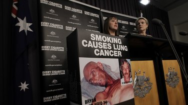 Former attorney-general Nicola Roxon and health minister Tanya Plibersek during the implementation of plain packaging laws in 2012.