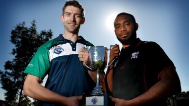Ireland captain Mick Finn and Papua New Guinea skipper John James with the International Cup ahead of Saturday's final.