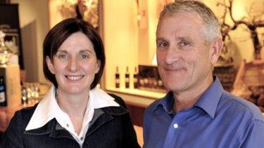Wynns' chief winemaker Sue Hodder and chief viticulturalist Allen Jenkins.