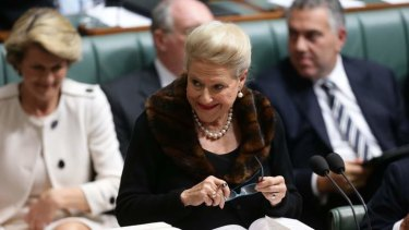 """Bronwyn Bishop has praised Abbott's ministerial line-up as a """"really good team""""."""