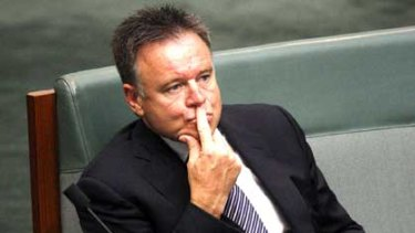 Former Defence Minister Joel Fitzgibbon during question time yesterday.