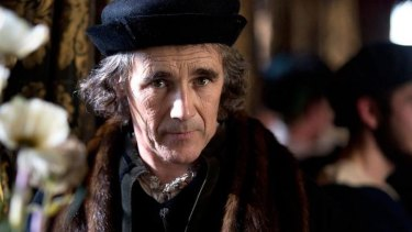 Mark Rylance as Thomas Cromwell in the BBC production of <i>Wolf Hall</i>.