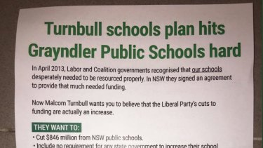 The leaflet Greens say Senator Lee Rhiannon sent to NSW constituents.