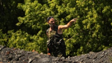 Pro-Russian rebel Yuri at the MH17 crash site.