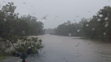 Overflow from the Annan River on the inland road from Cooktown to Mareeba