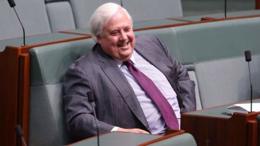 Clive Palmer has denied that his party is to blame for a Tasmanian election ad that has come under scrutiny.
