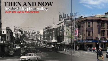 """SLIDER GALLERY: <a href=""""http://www.smh.com.au/nsw/cross-before-after""""><b>Click here</b></a> for  pictures of how Kings Cross looked back then."""