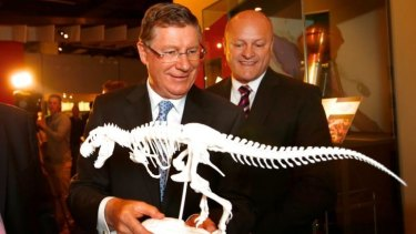 Premier Denis Napthine and Manufacturing Minister David Hodgett announce a program to buy 3D printers for government secondary schools and special schools at Melbourne Museum.