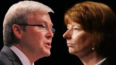 Julia Gillard challenges Kevin Rudd for the Labor leadership.