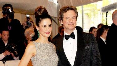 Celebrity scholar ... Colin Firth and wife Livia Giuggioli.